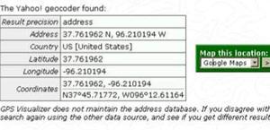 Ferramenta de pesquisa geográfico do Yahoo com as coordenadas dadas pelo OP.