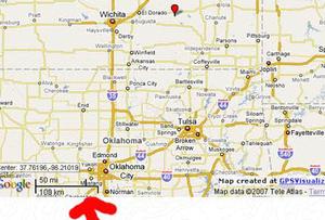 Mapa do local aonde a garota estava enterrada.